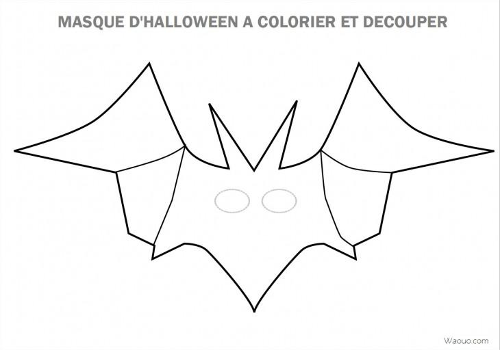 Coloriage masque d halloween imprimer et d couper - Coloriage a decouper ...