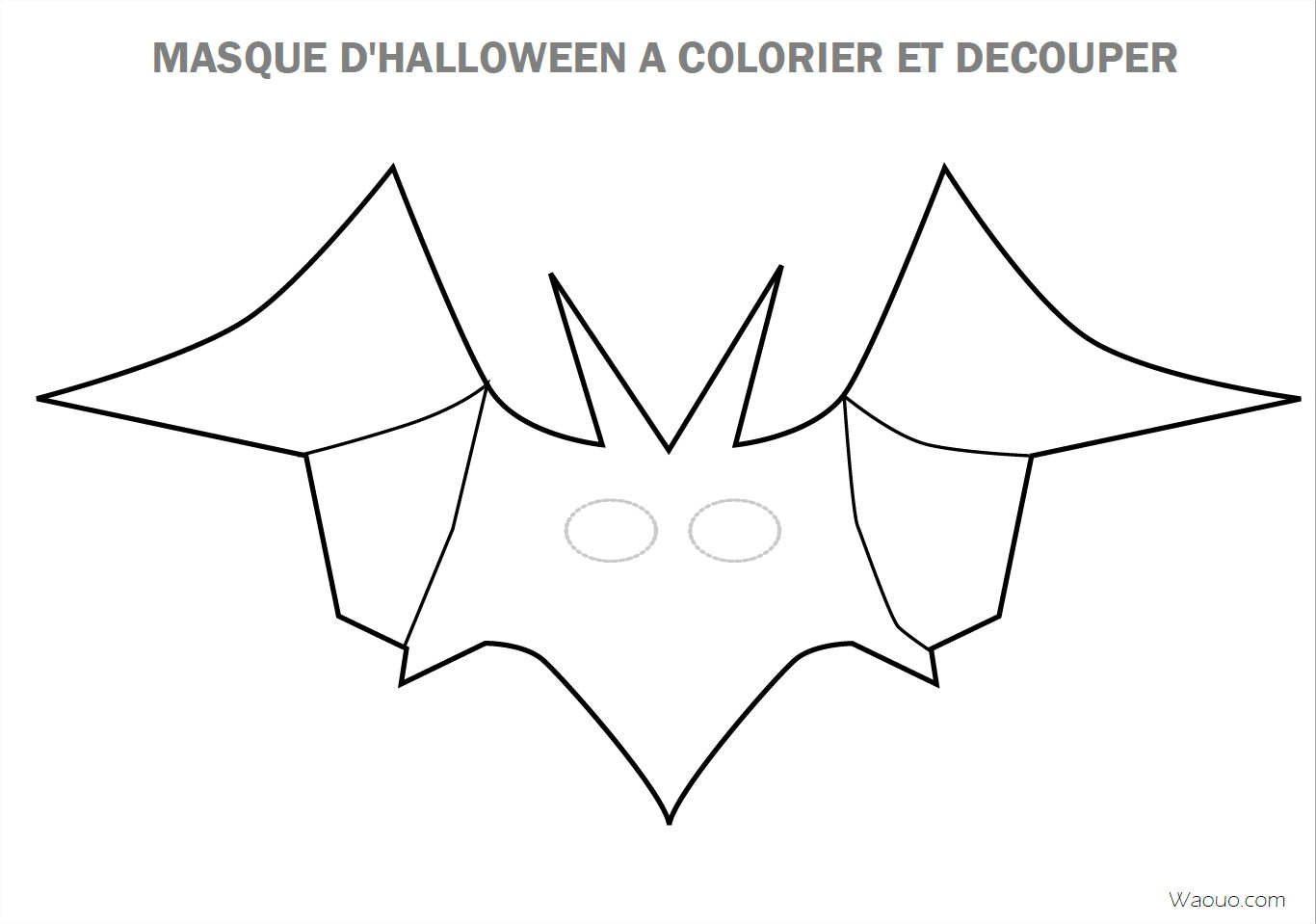 Coloriage Masque Halloween