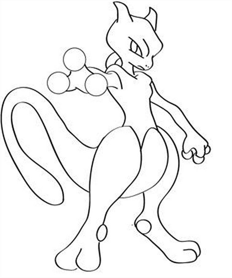 Coloriage Mewtwo