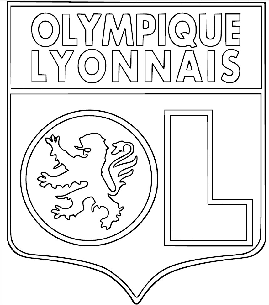 Coloriage Football Girondins De Bordeaux à Imprimer
