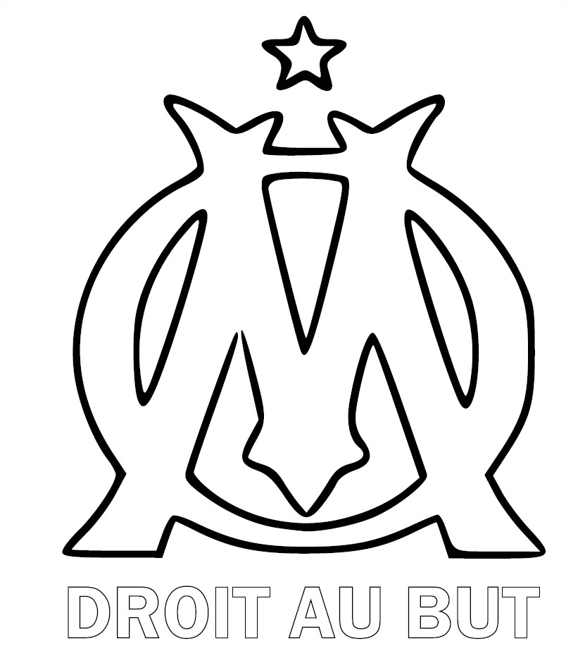 blason om coloriage om olympique de marseille imprimer. Black Bedroom Furniture Sets. Home Design Ideas