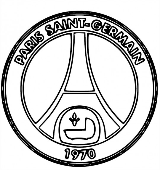 blason psg coloriage psg paris saint germain imprimer. Black Bedroom Furniture Sets. Home Design Ideas
