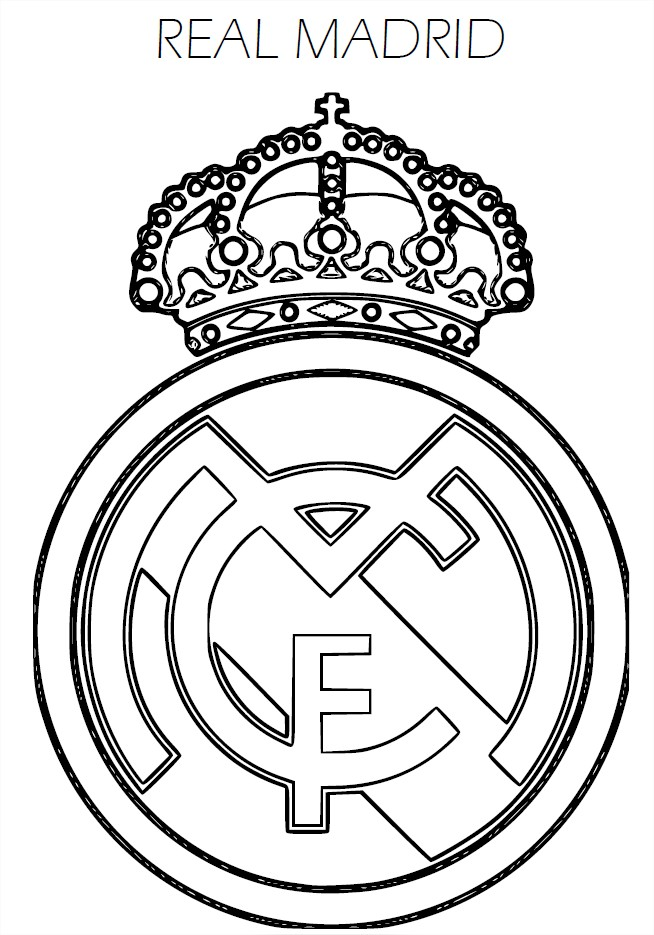 blason real madrid coloriage real madrid imprimer. Black Bedroom Furniture Sets. Home Design Ideas