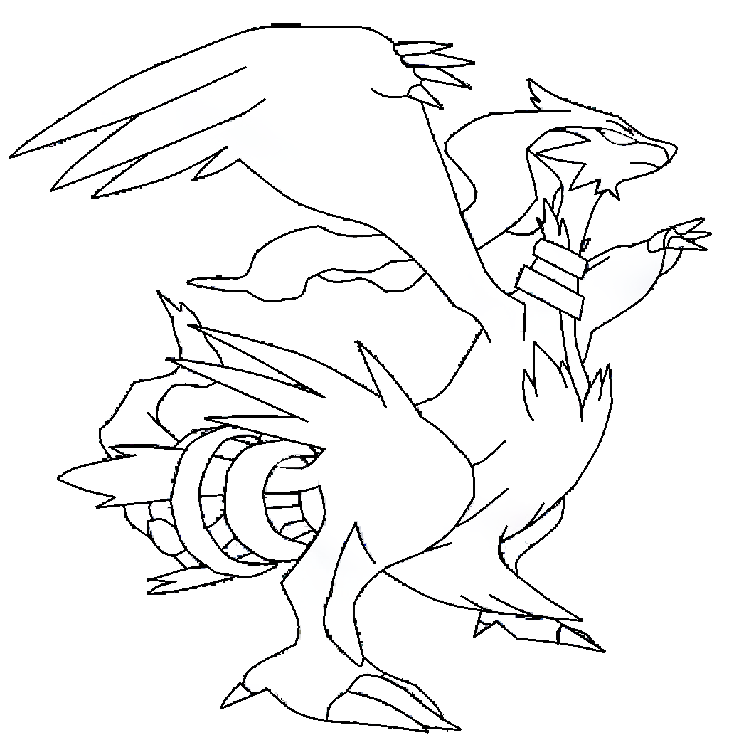Reshiram Coloriage Pokemon Legendaire Reshiram A Imprimer Et