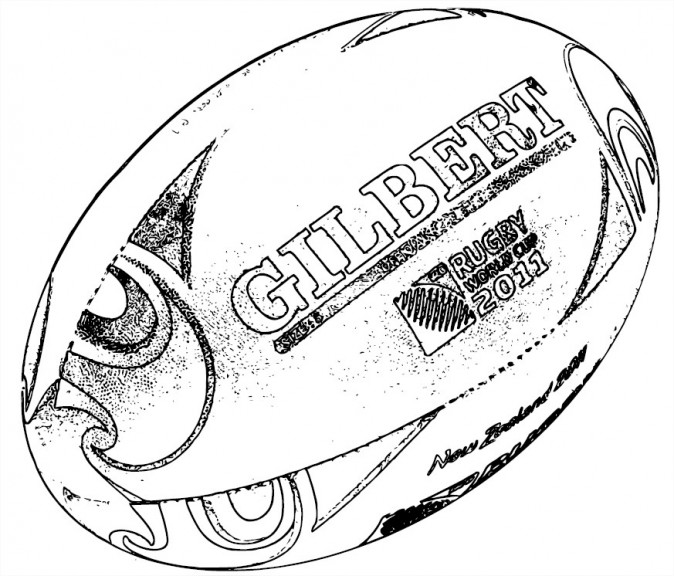 Coloriage Rugby coupe du monde 2011