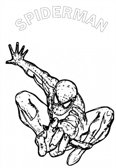 Coloriage spiderman 1 imprimer et colorier - Coloriage spiderman 1 ...