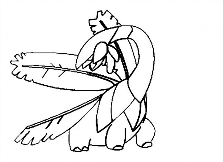 Coloriage Tropius Pokemon
