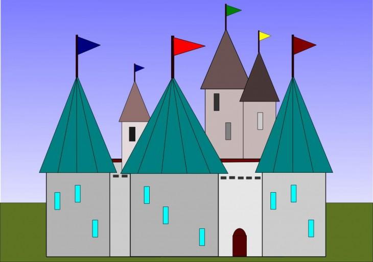 Coloriage Grand Chateau.Coloriage Grand Chateau A Dessiner Et A Colorier