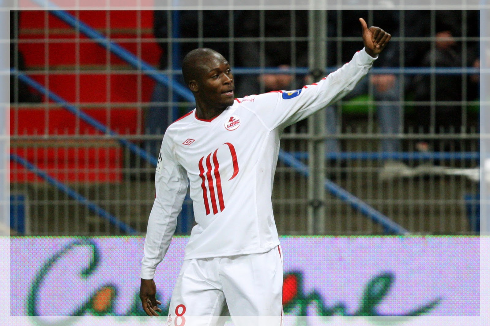 Moussa Sow Lille maillot blanc