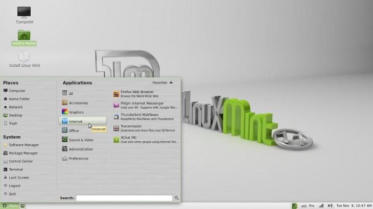 Categorie Internet Linux Mint 11