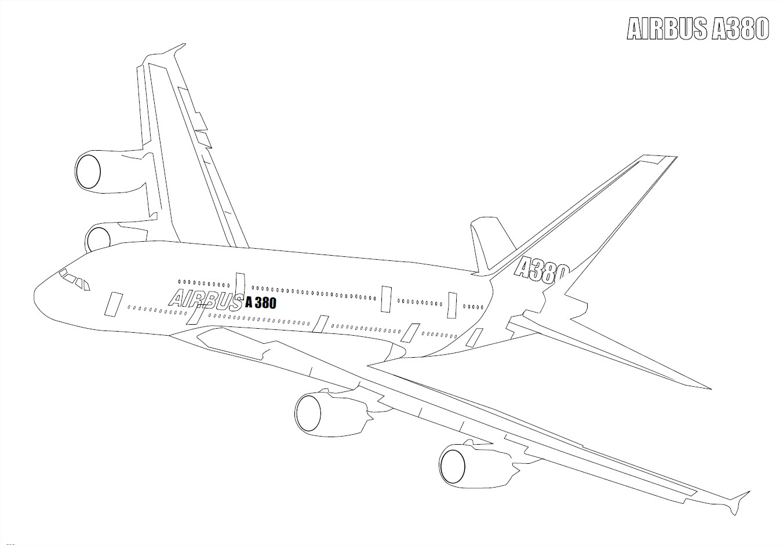 Coloriage avion airbus 380