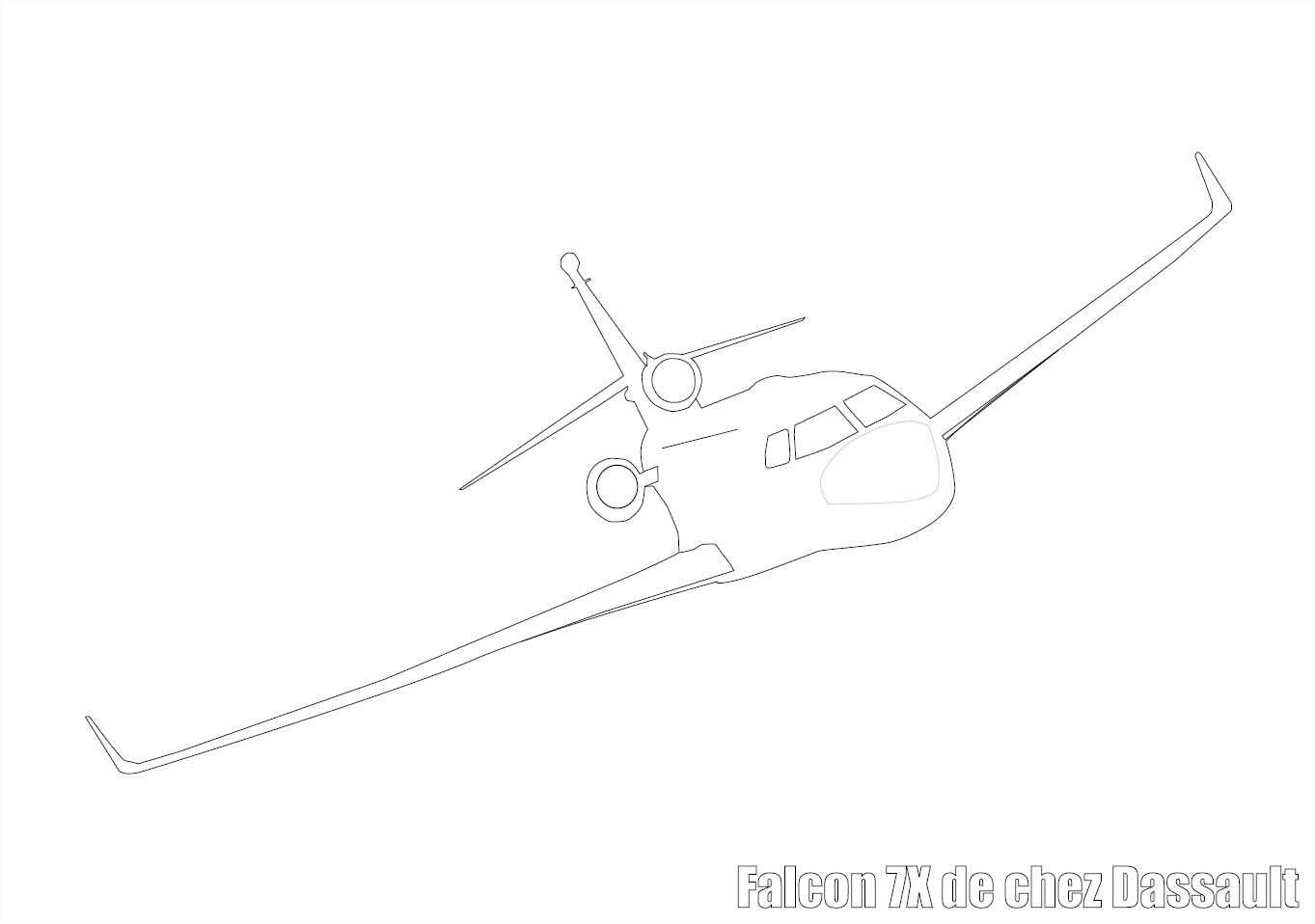 Coloriage avion falcon 7x
