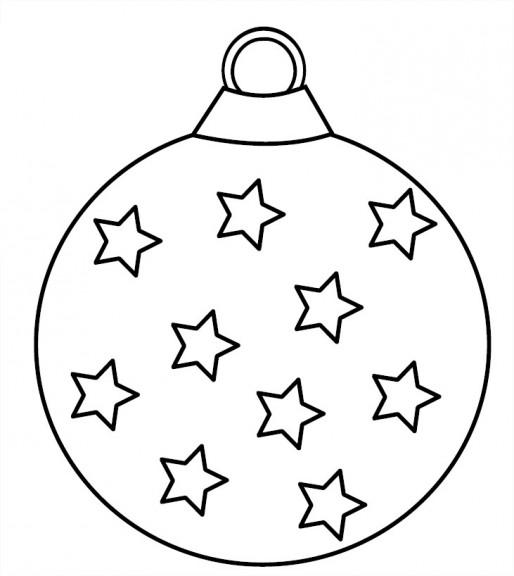 Coloriage boule avec des étoiles
