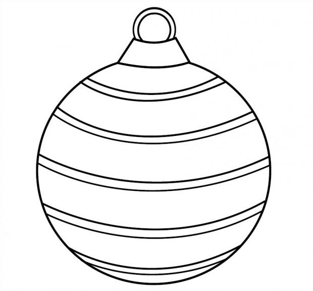 Coloriage boule avec des rayures