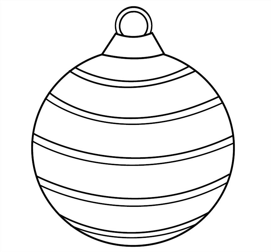 Coloriage de boules de noel gratuit à colorier