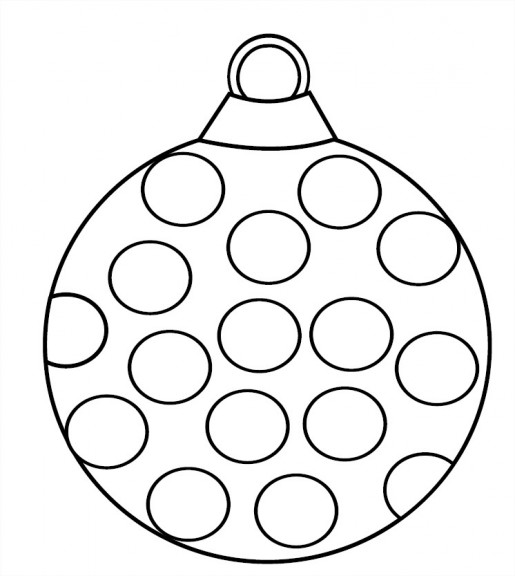 Coloriage boule  ronde