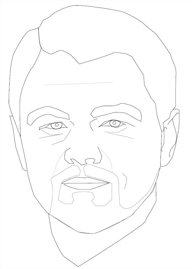 Coloriage Leonardo DiCaprio