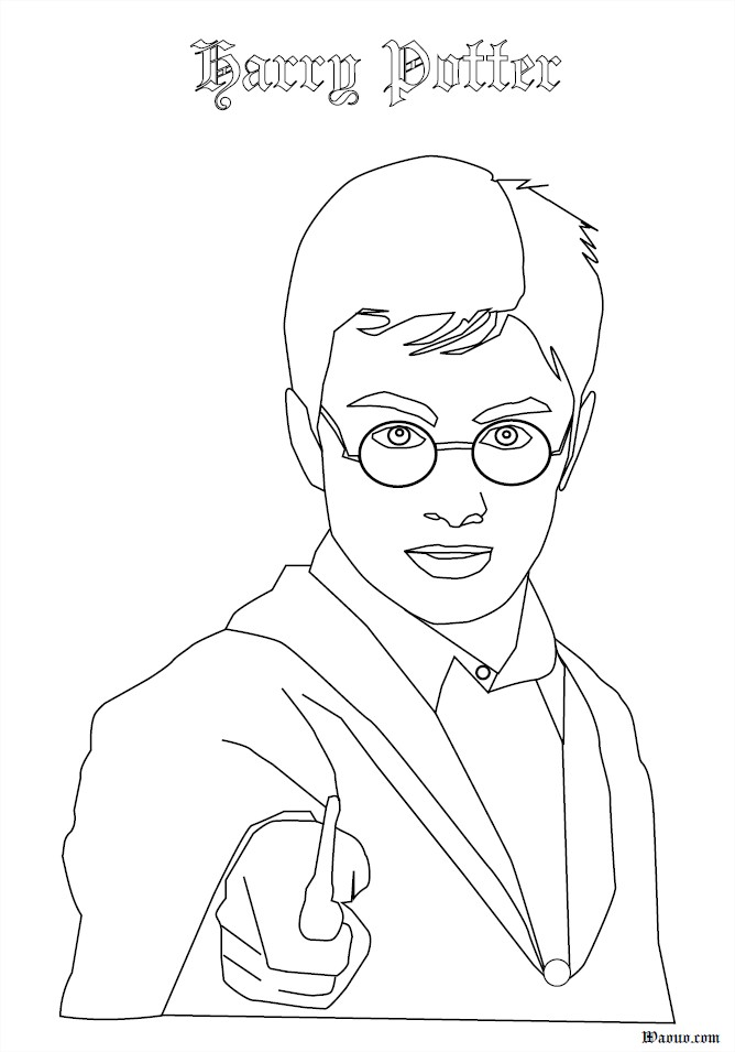 Harry Potter Coloriage Du Personnage Harry Potter A Imprimer Et