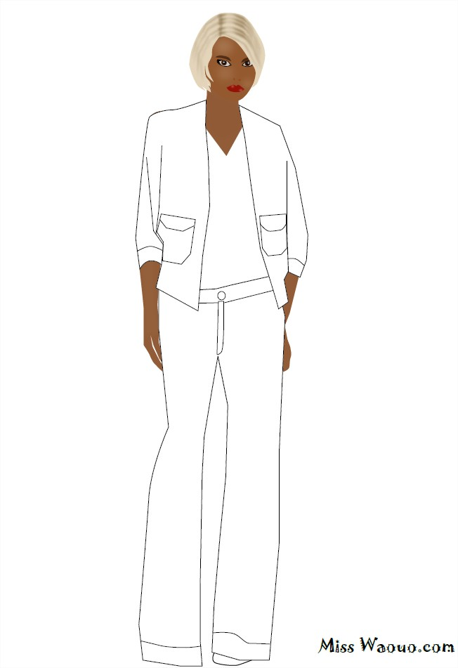 Coloriage Jeans et veste