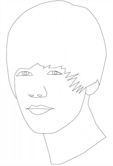 Justin bieber coloriage de star justin bieber imprimer - Justin bieber dessin ...