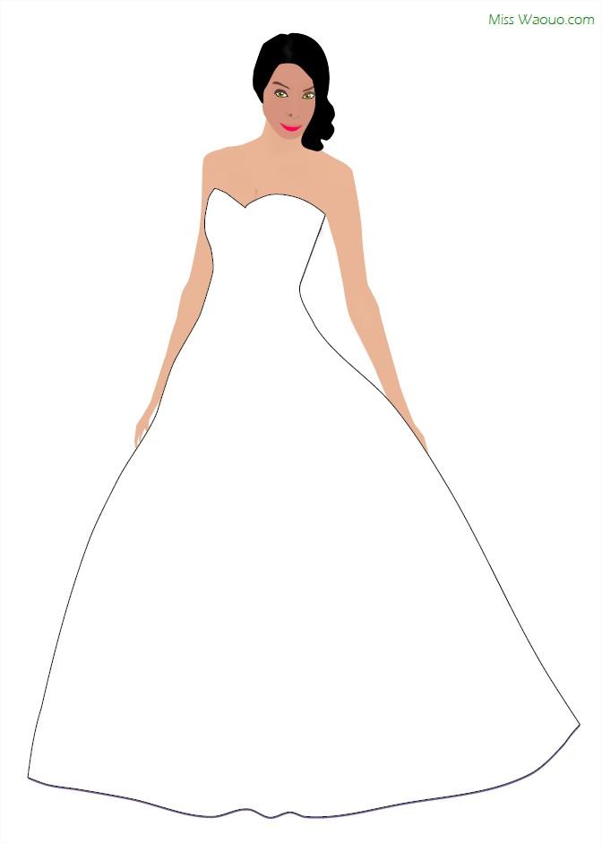 Coloriage Miss et robe