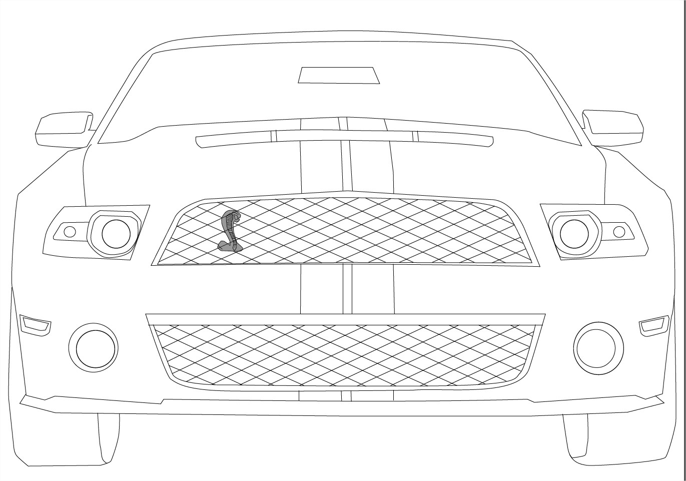 Coloriage Mustang Cobra