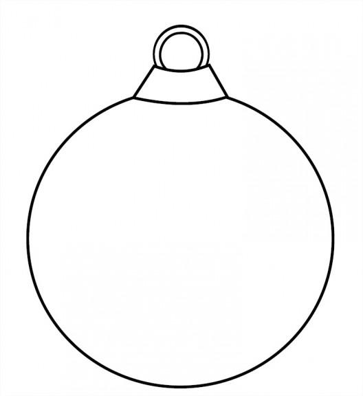 Coloriage noël boule