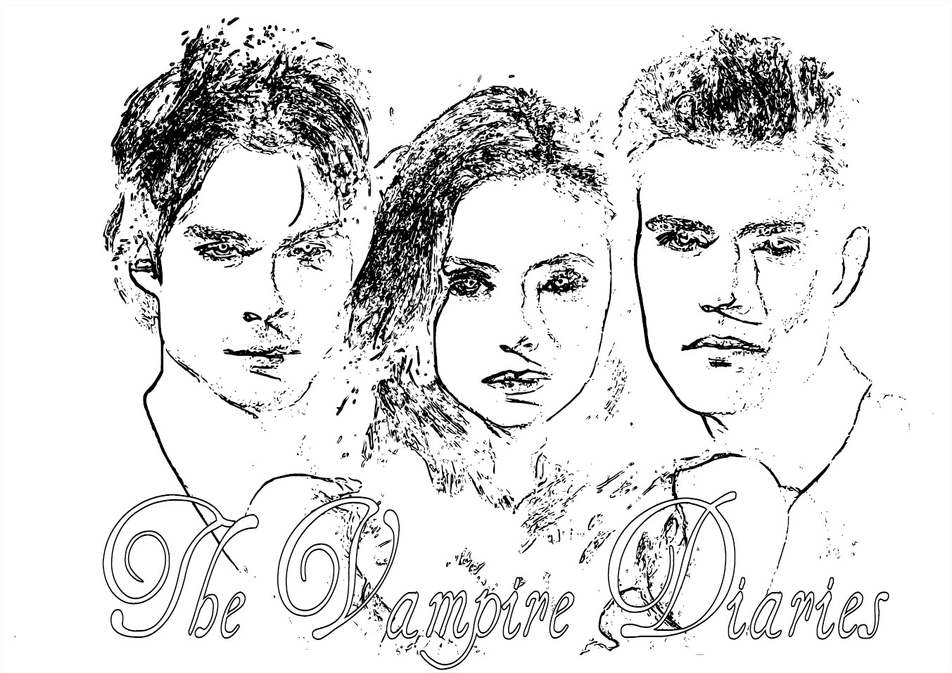 Coloriage Vampire Diaries