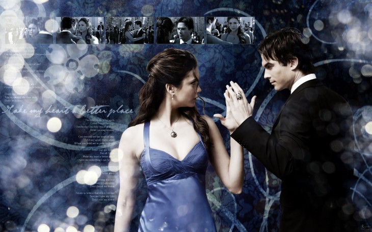 Damon Elena couple wallpaper
