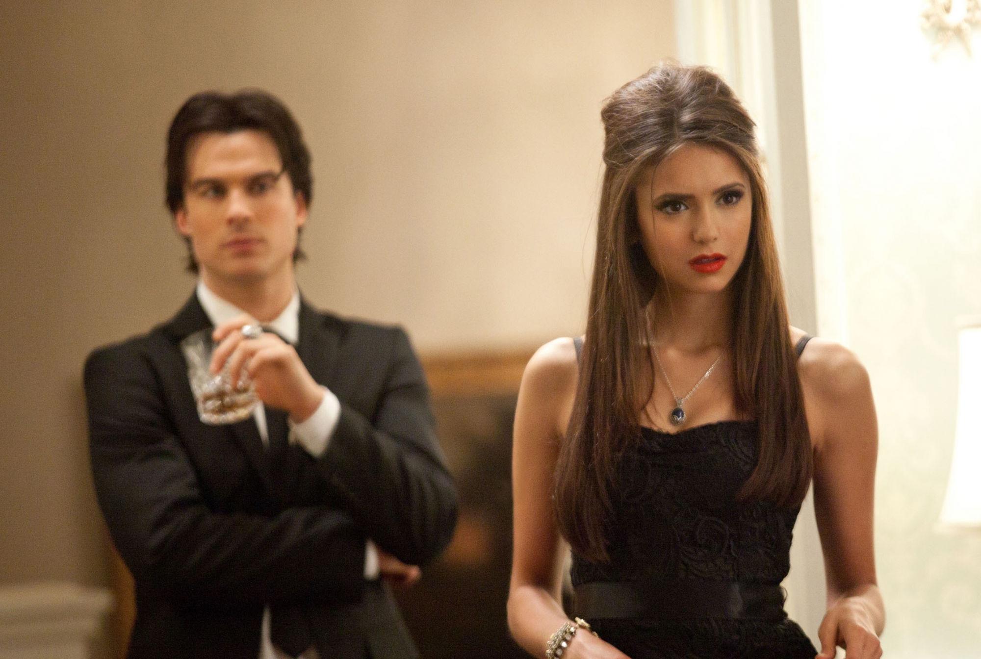 Damon et Elena Wallpaper hd