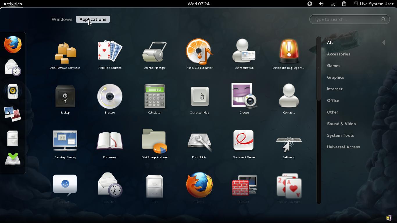 Fedora 16 Gnome 3