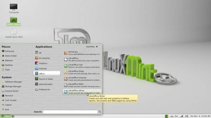 Libre Office Linux Mint 11