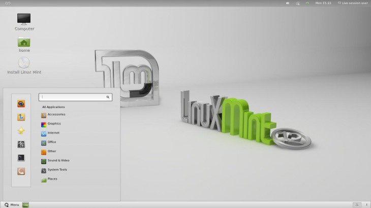 Menu Linux Mint 12 Lisa