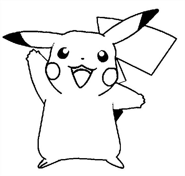 Coloriage Pikachu Heureux Gratuit A Imprimer Et Colorier