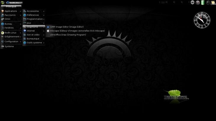Bodhi Linux en noir