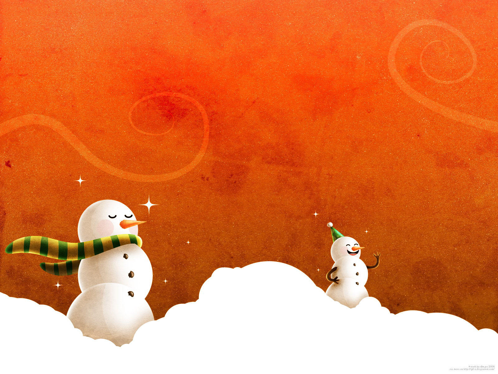 Bonhomme de neige wallpaper wide