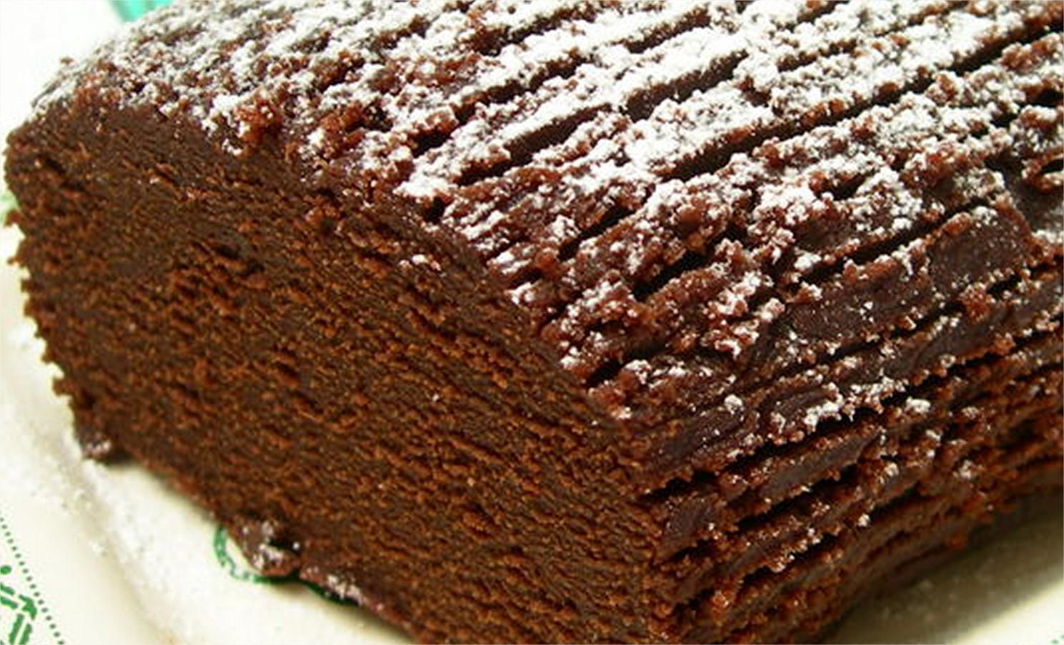 Buche chocolat et marron