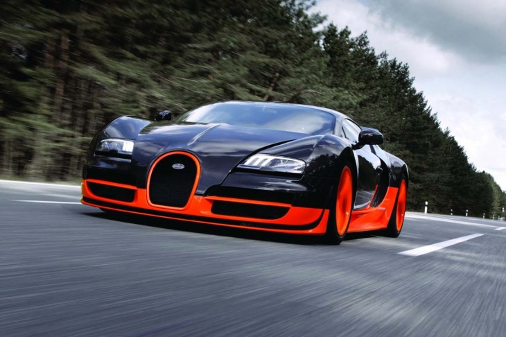 Bugatti Veyron orange