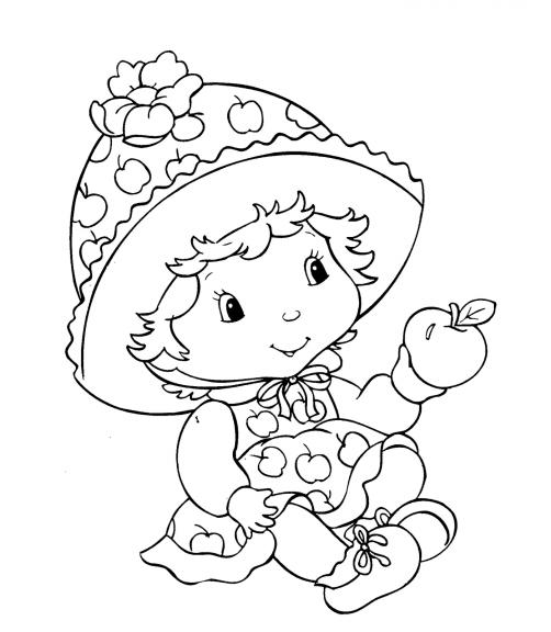 Charlotte aux fraises bébé coloriage