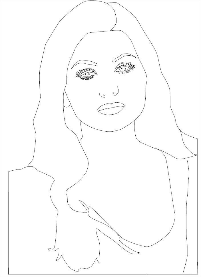 Coloriage Alyson Michalka