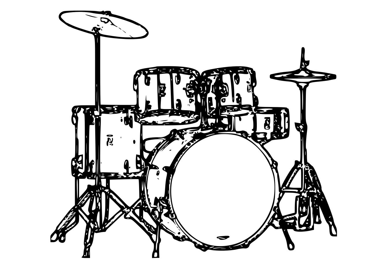 Coloriage batterie musique