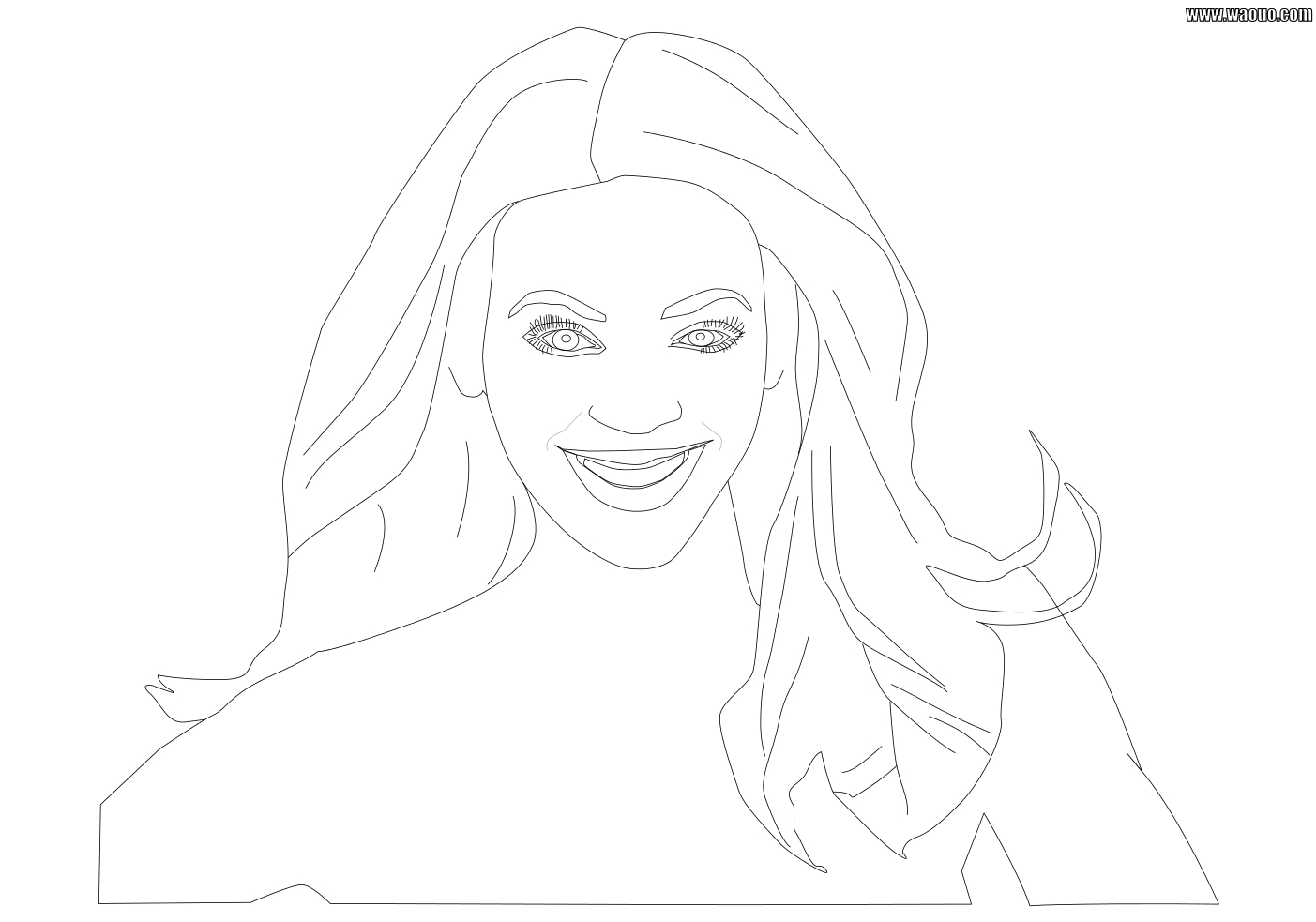 Coloriage Beyonce