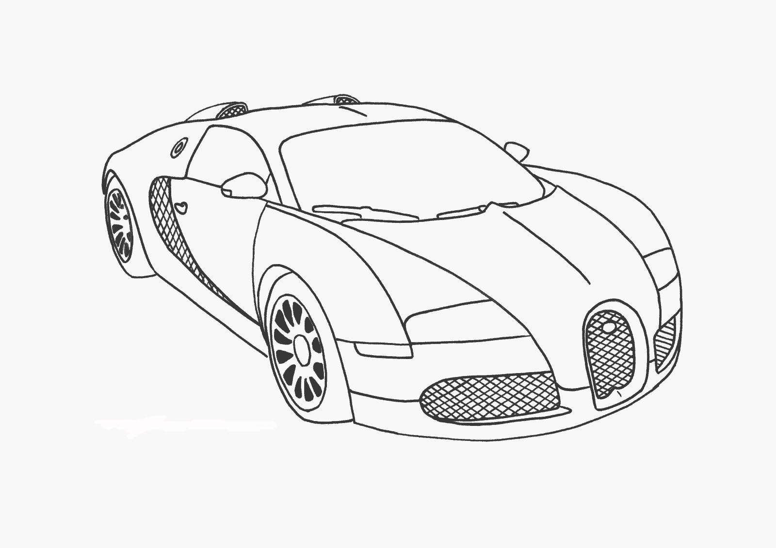 Coloriage Bugatti Veyron