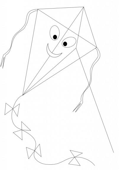 Coloriage cerf volant avec le sourire imprimer et colorier - Coloriage cerf volant ...