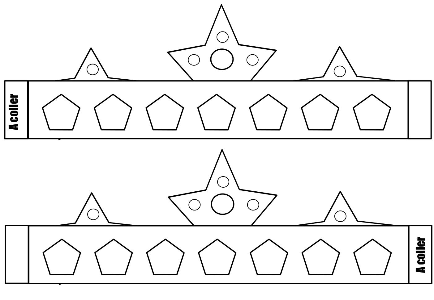 Coloriage couronne des rois