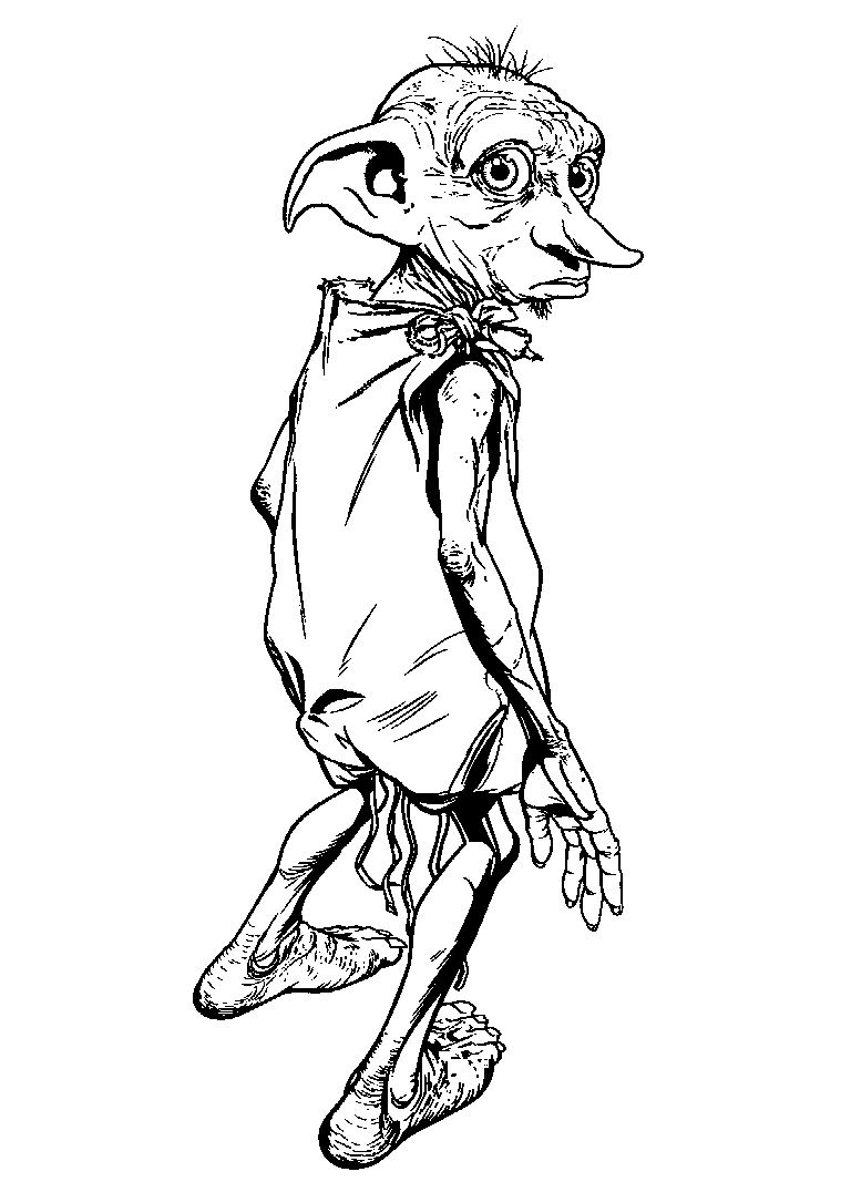 Coloriage Dobby Harry Potter
