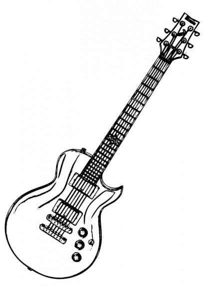 Coloriage guitare électrique