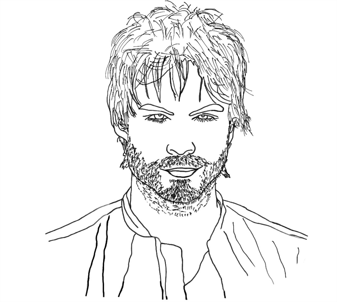 Coloriage Ian Somerhalder Damon