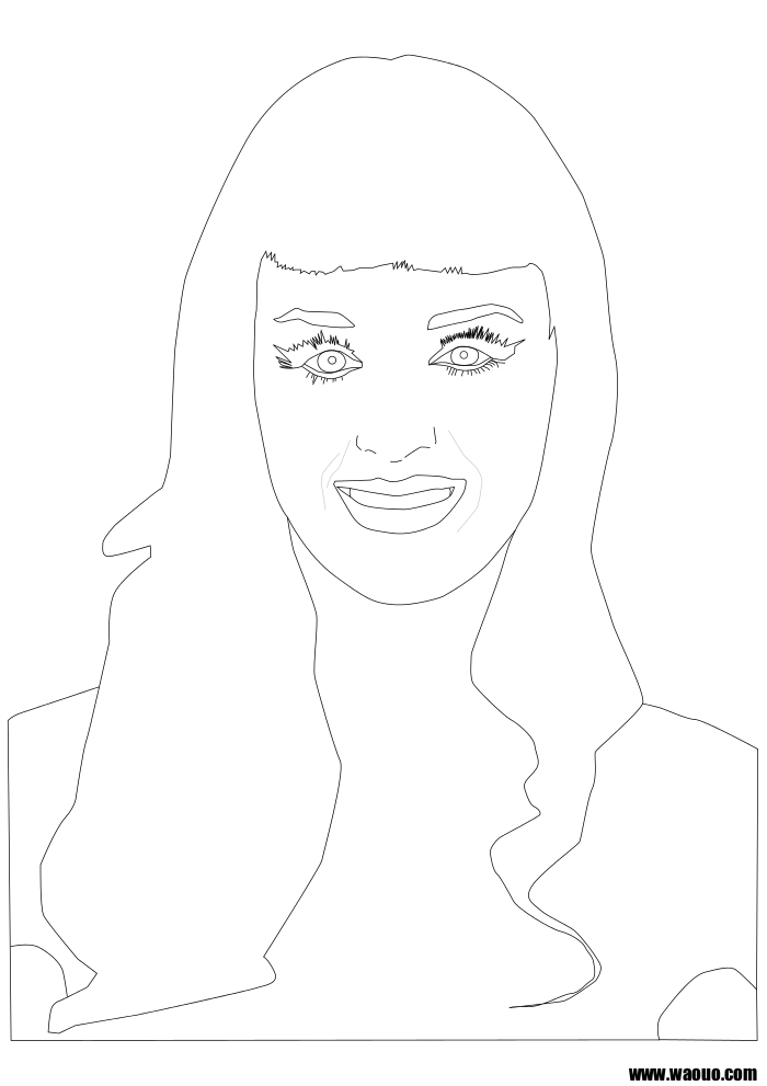 Coloriage Katy Perry