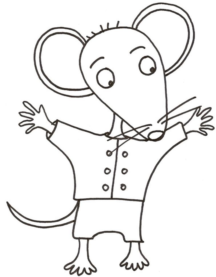 Coloriage mimi la petite souris